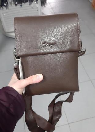 Мужская кожаная сумка karya 0565