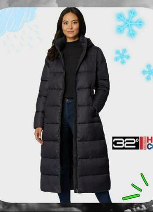 Зимний ⛄❄🌡длинный пуховик черный 32 degrees большой размер