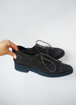 Черевики/ туфли/ оксфорди/ лофери замшеві duna london