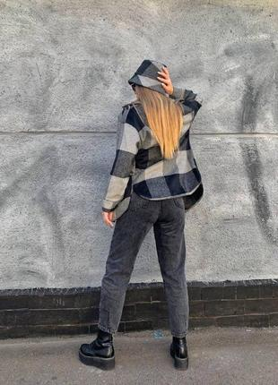 Пальто-рубашка из шерсти, с шляпкой!