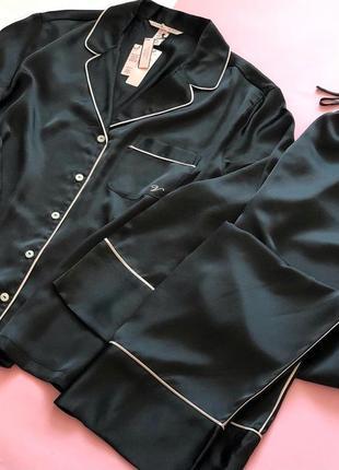 Сатиновая атласная пижама со штанами виктория сикрет оригинал