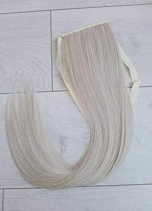 Хвост блондинки на лентах накладной