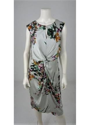 Лакшери струящиеся платье , принт акварельные краски laura ashley👑