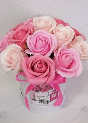 Букет мыльных цветов розы троянди мильні квіти