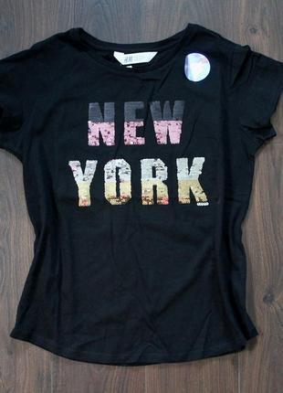 Крутая футболка ny от h&m