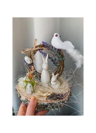 Пасхальная композиция. пасхальный декор. кролик