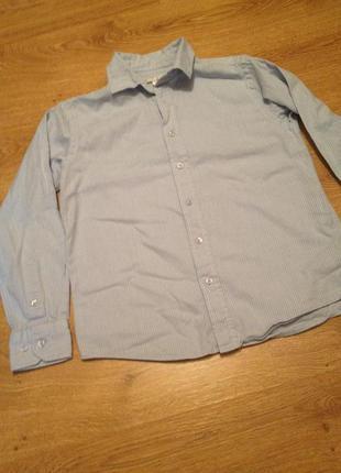 Стильная рубашка в полоску для мальчика 10-11 лет