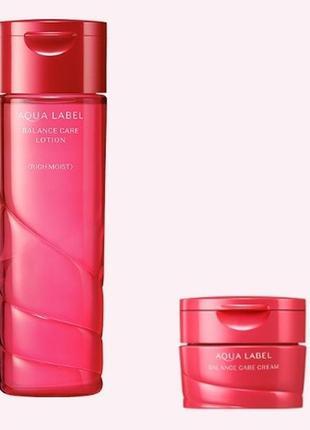 Набор лосьон и крем для лица shiseido aqualabel balance care япония