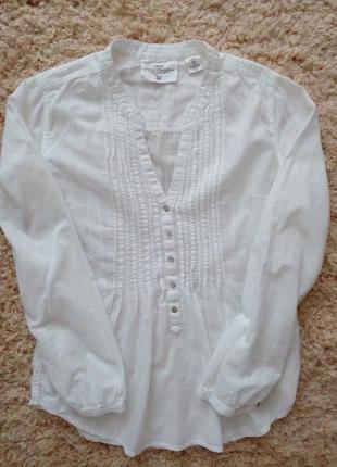 Белоснежнвя  натуральная блуза