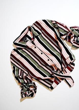 Подписывайтесь на модное и качественное! рубашка топ летняя в полоску длинный рукав и 3/4