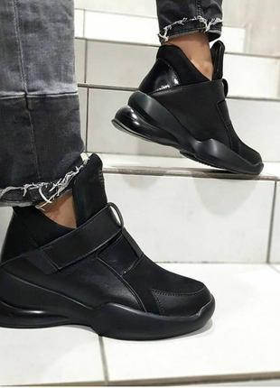 Стильные высокие кроссовки