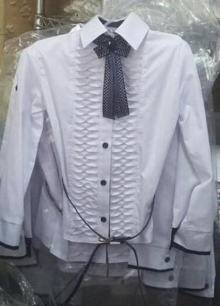 Школьная х/б блузка-трансформер