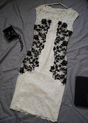 Белое платье zara с кружевом