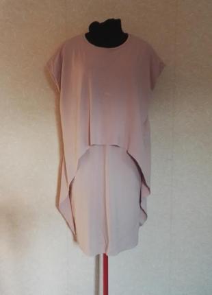 Стильное платье пудрового цвета вискоза cos