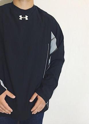 Мужская кофта (свитшот) under armour ( андер армур ххлрр идеал оригинал черно-серый)