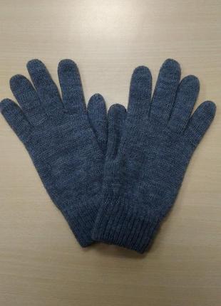 Перчатки, мужские, теплые, шерстяные, вязаные, двойные, серые, c&a, l