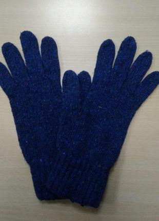 Перчатки, мужские, теплые, шерстяные, вязаные, синие, c&a, xl