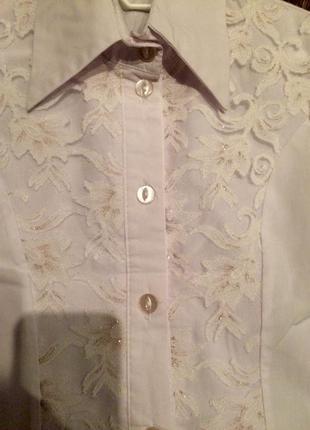 Красивая школьная блуза