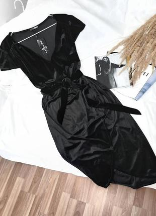 Брендовое бархатное платье на запах quiz  вечернее бархат скидка