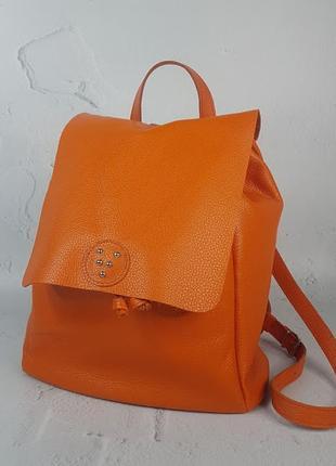 Женский кожаный рюкзак неаполь