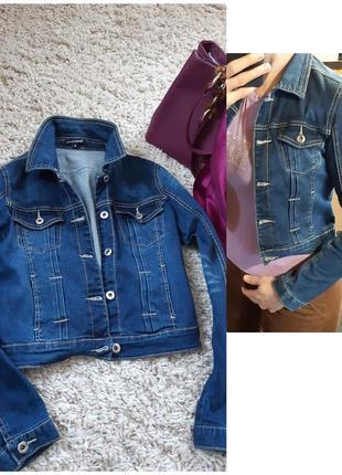 Стильный джинсовый жакет/пиджак укороченный,chicoree,  p.s