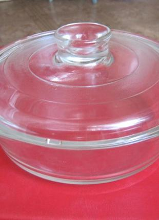 Кастрюля жаропрочное стекло
