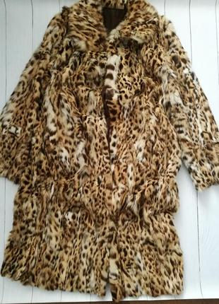 Натуральная шуба из леопарда