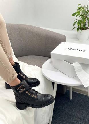 Женские демисезонные ботинки в стиле chanel 🔥натуральная кожа, весна осень4 фото