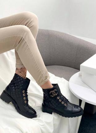 Женские демисезонные ботинки в стиле chanel 🔥натуральная кожа, весна осень5 фото