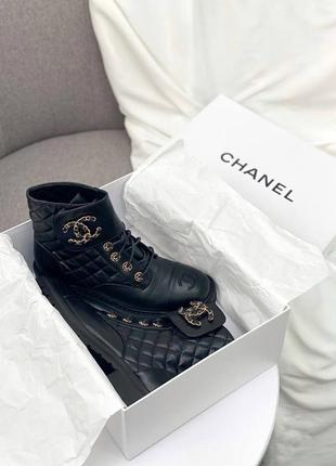 Женские демисезонные ботинки в стиле chanel 🔥натуральная кожа, весна осень1 фото