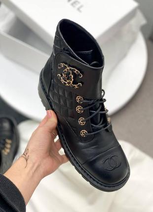Женские демисезонные ботинки в стиле chanel 🔥натуральная кожа, весна осень6 фото