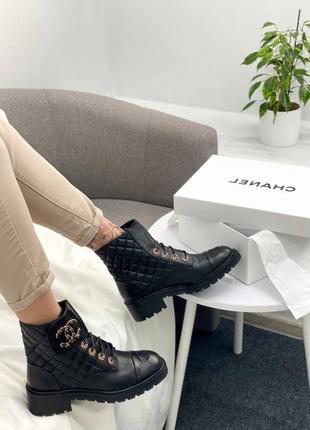 Женские демисезонные ботинки в стиле chanel 🔥натуральная кожа, весна осень2 фото