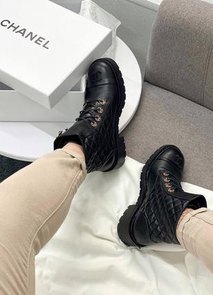 Женские демисезонные ботинки в стиле chanel 🔥натуральная кожа, весна осень3 фото