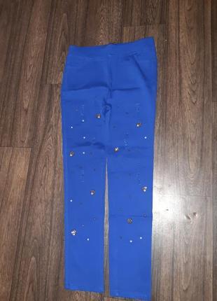 Скины, лосины, штаны р 31 новые, цвет электрик