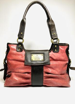 Кожаная сумка tommy & kate.