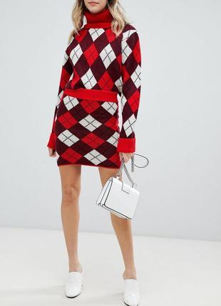Шикарная брендовая вязанная мини юбка prettylittlething этикетка