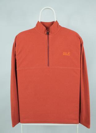 Оригинальная флисовая кофта jack wolfskin tecnopile 1/4 zip fleece jacket