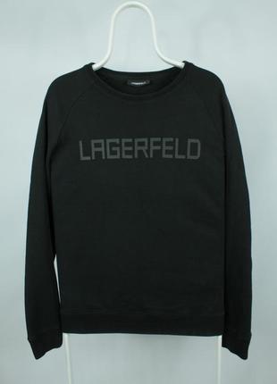 Оригинальная толстовка karl lagerfeld big logo black sweatshirt