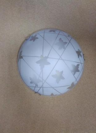 Потолочный светильник на 2 лампы (возможен монтаж на стену) светло-сиреневый