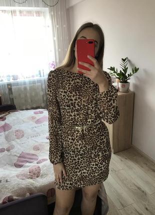 Платье с леопардовым принтом odjii
