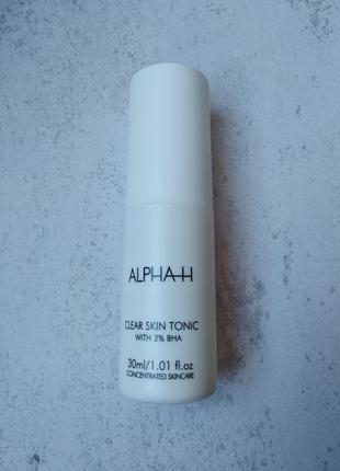 Очищуючий тонік для обличчя alpha-h clear skin tonic