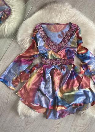 Блуза с рукавами клёш
