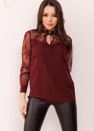 Блуза с кружевными вставками