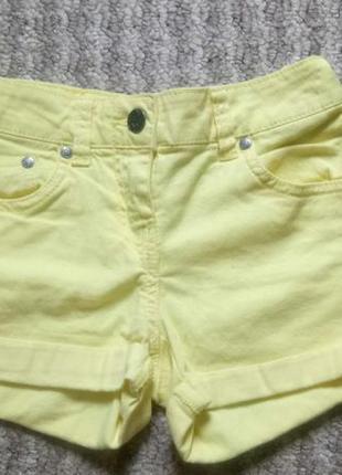 Желтые шорты here&there рост 134 см