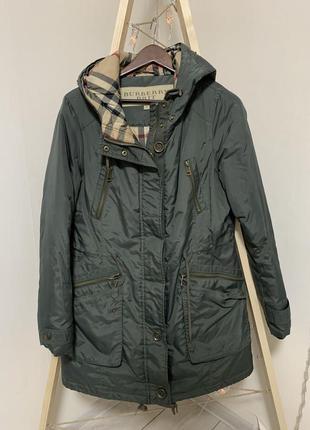 Зимняя куртка цвета хаки burberry brit xl