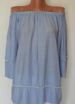 Нежная блуза с открытыми плечиками