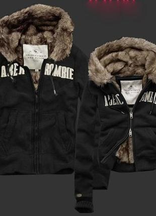 Куртка толстовка на меху abercrombie & fitch original