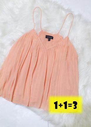 Topshop кокетливая блузка блуза плиссе кроп топ топик свободный