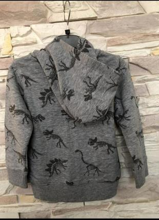 Кофта для мальчика c&a в динозаври palomino, двухнить2 фото