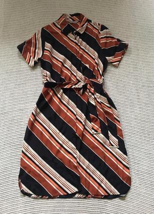 Платье -рубашка, в полоску, dorothy perkins,
